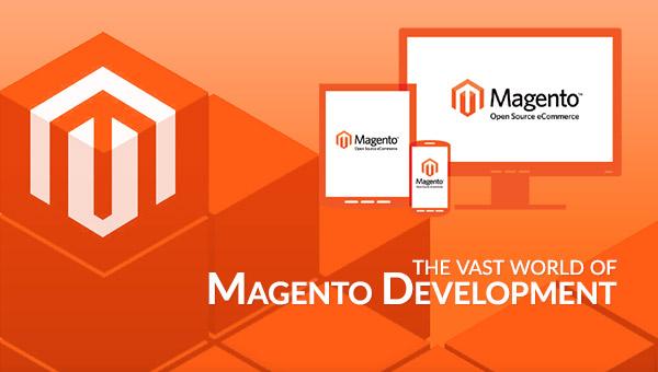 "alt=""orange screen displaying Magento Development"""